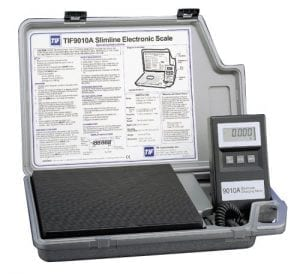 One of the top refrigerant scales- the robinair tif9010a
