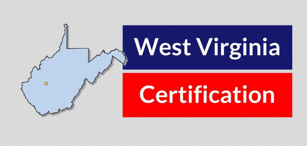west virginia state certification