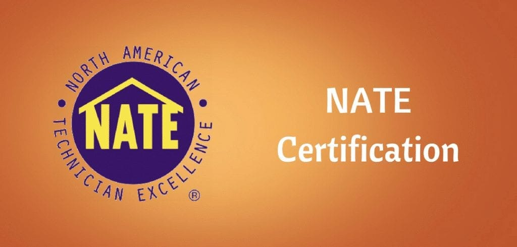 NATE certification for hvac technicians