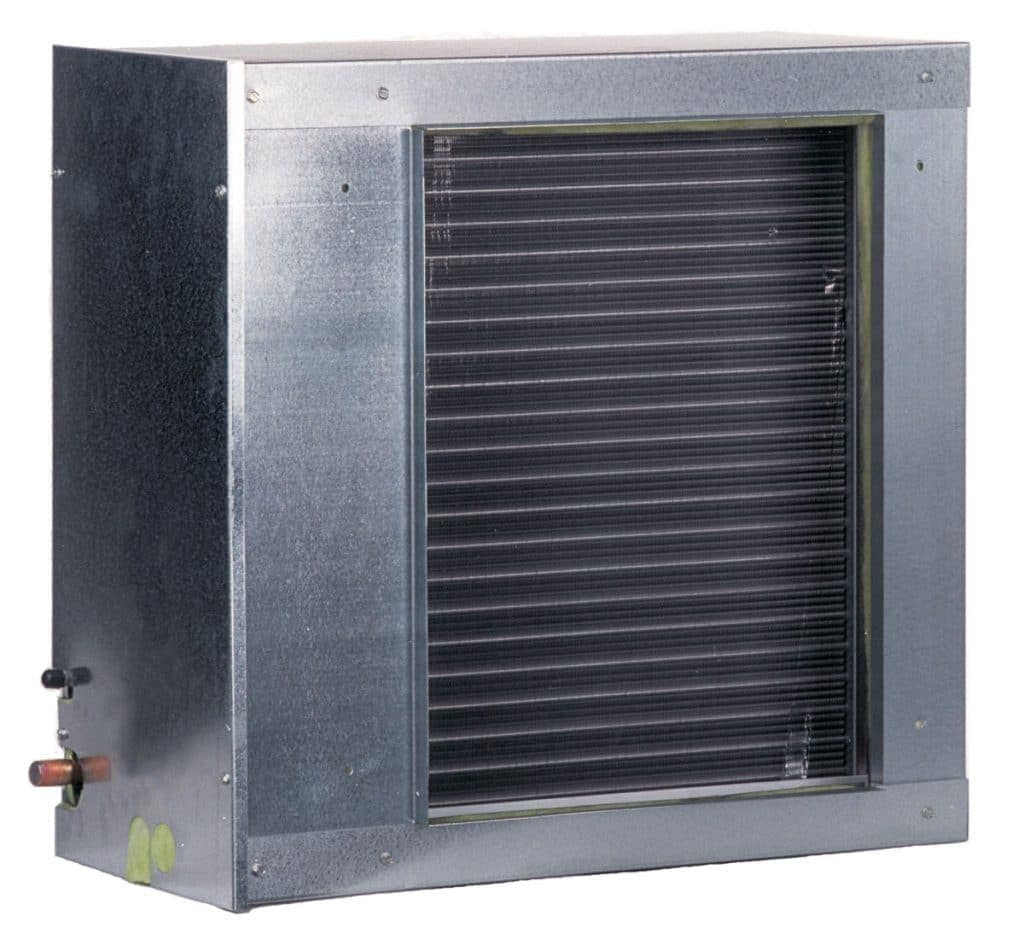 The evaporator coil will extract the heat as it passes through and then, through the help of a refrigerant, enable you to have cold air.