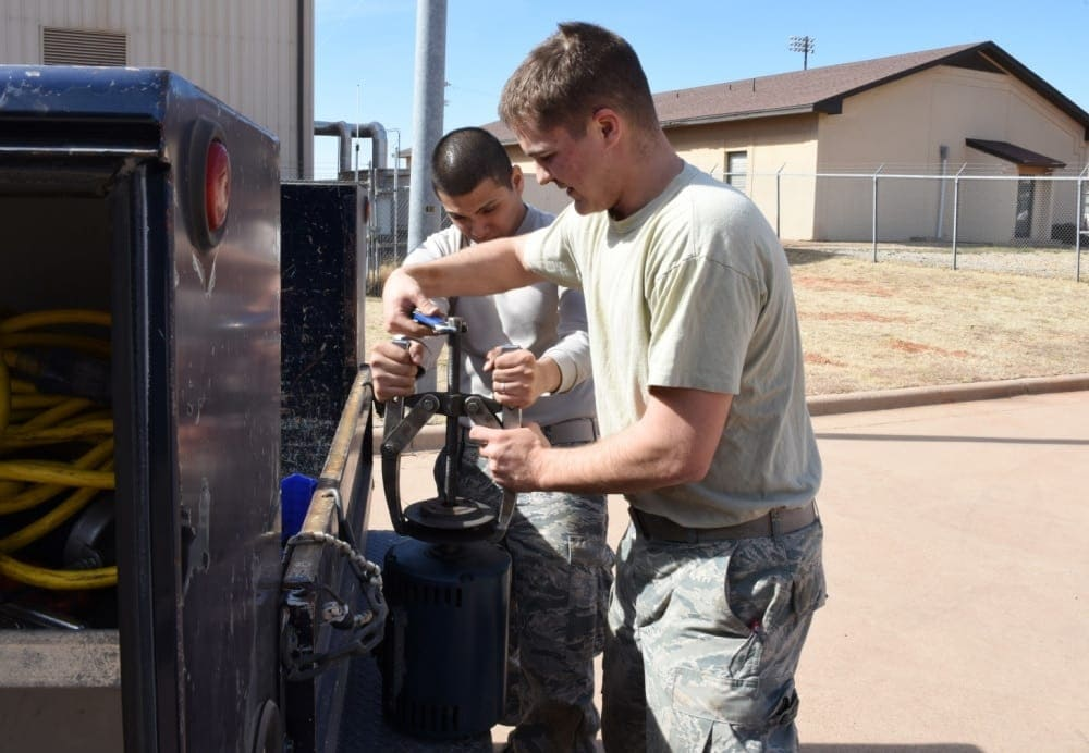 dyess afb hvac work